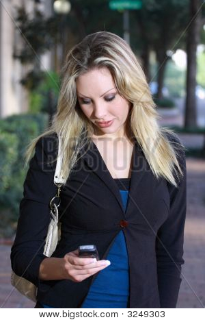Young Business Woman Talking