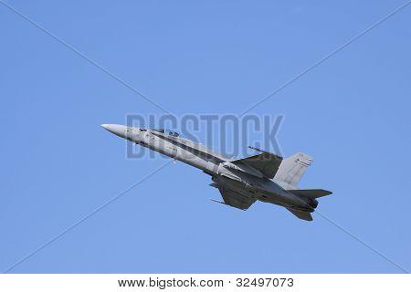 F/A-18 Hornet flying