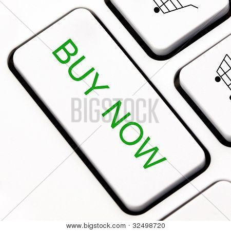 Buy now keyboard key