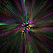 foto of mardi-gras  - blurred star image with mardi gras colour scheme - JPG
