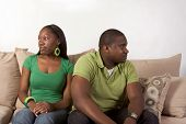 stock photo of bad mood  - Young black ethnic African - JPG