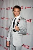 LAS VEGAS - APR 26:  Jeremy Renner arrives at the CinemaCon 2012 Talent Awards at Caesars Palace on