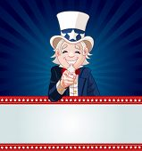 Uncle Sam pointing. Perfect for a USA or Fourth of July illustration.