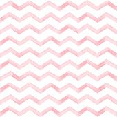 Seamless Pattern. Kids Prints. Watercolor Elements. Light Blue Zigzag Lines. White Background. Print poster