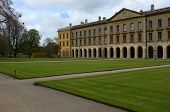 stock photo of magdalene  - Magdalen College New building and court yard - JPG