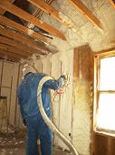 Blowing Insulation Close Up
