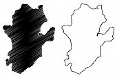 Eastern Province (republic Of Sierra Leone, Salone) Map Vector Illustration, Scribble Sketch Eastern poster