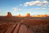 Monument Valley Is A Region Of The Colorado Plateau Characterized By A Cluster Of Vast Sandstone But poster