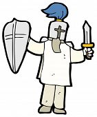 image of arthurian  - cartoon knight - JPG