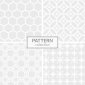 Set Of Four Abstract Seamless Patterns. Modern Stylish White And Gray Geometric Textures. Repeating  poster