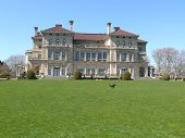 stock photo of breaker  - The Breakers. A national historic landmark in Newport., Rhode Island.