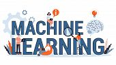 Machine Learning Concept. Artificial Intelligence Learning New Algorithm poster