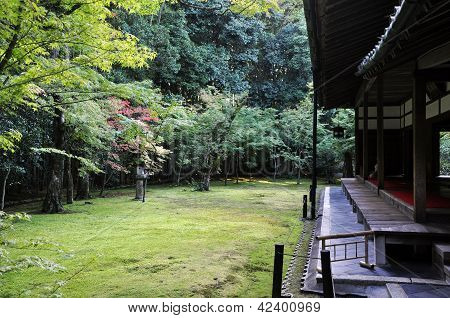 Japanese Garden In The Koto-in Temple- Kyoto, Japan