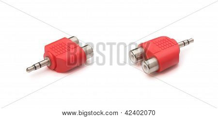 Two Views Input & Output Plug With Clipping Path