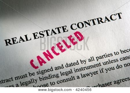 Real Estate Contract with Canceled Stamp