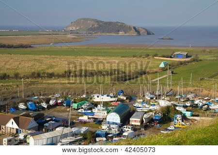 Uphill boat yard and Brean Down