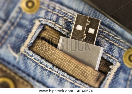 Usb In Jeans Pocked
