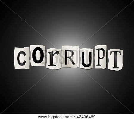 Corruption Concept.