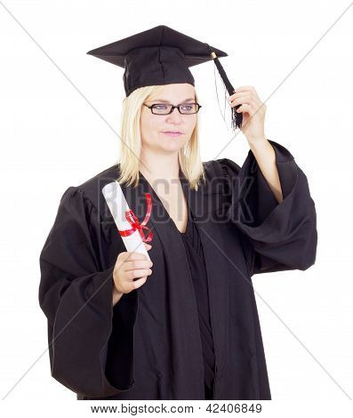 Female Student With Her Diploma