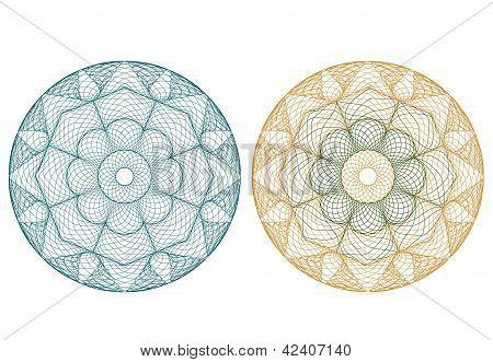 vector pattern for currency, certificate or diplomas