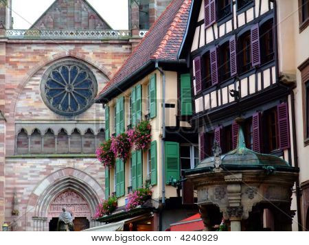 Typical Architecture In Alsace Region - Obernai