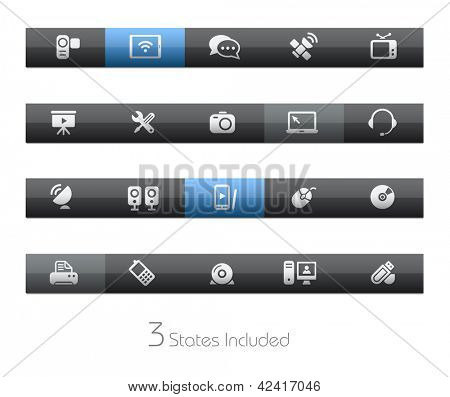 Communication // Blackbar Series + It includes 3 buttons states in different layers. +