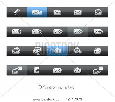 E-mail // Blackbar Series + It includes 3 buttons states in different layers. +