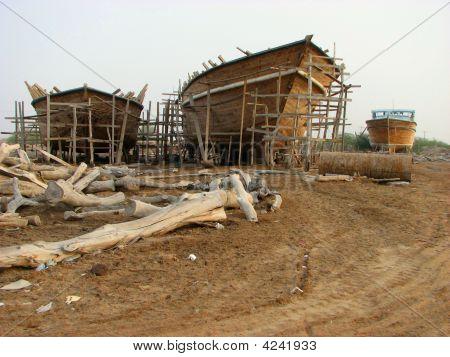 Boatyard In Iran