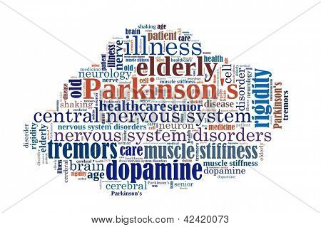 Parkinson�s  Disease in word collage