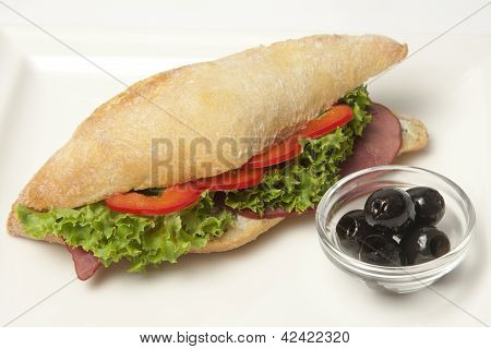 Sandwich With Beef Pastrami