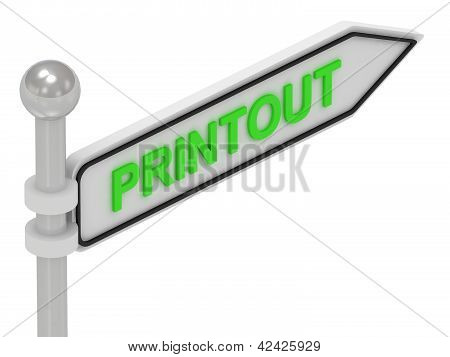Printout Arrow Sign With Letters