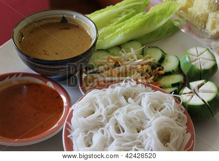 Rice Noodles With Solution.
