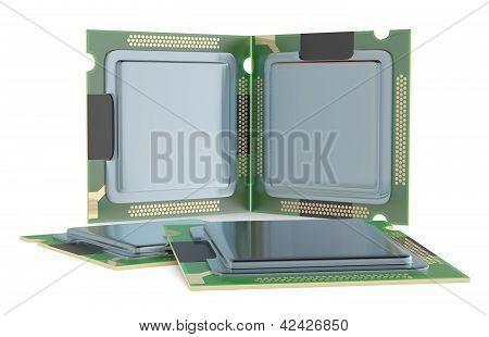 Computer Processor. 3D Model