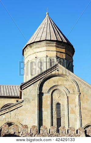 Georgia - Mtskheta - Sveticxoveli Castle-cathedral, One Of The Symbols Of Georgia