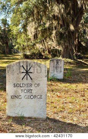 Unknown Fort King George Soldiers Graves