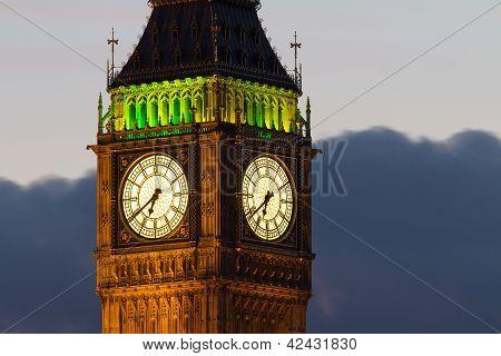 Big Ben. Detail. Evening