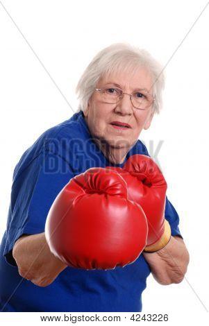 Senior Woman Boxing