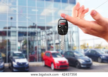 New Car keys. Driving and transportation concept.
