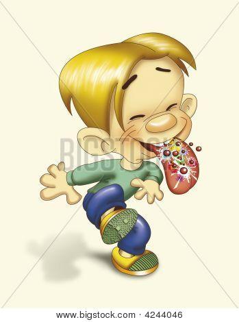Boy Eating Pop Rocks
