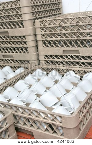 Cups In Catering Or Banquet Food Industry