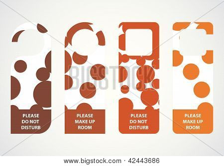 Hotel Do Not Disturb Door Hanger With Special Dotted Design