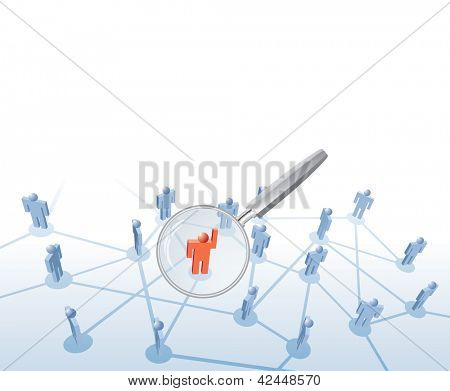 vector symbolic illustration for people search and employment