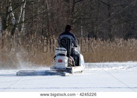 A Snowmobile