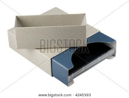 Open Cardboard Box With Dvd Inside