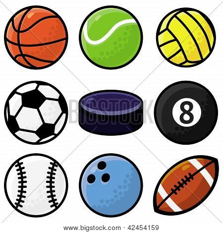 Vector Set With Sport Balls
