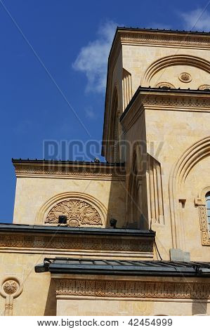 The Biggest Orthodox Cathedral Of Caucasus Region - St. Trinity Or Sameba Cathedral In Tbilisi, Repu