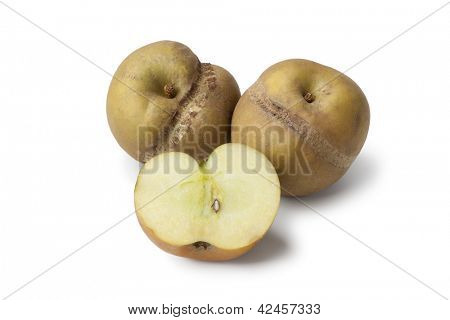 Patte de loupe apples on white background