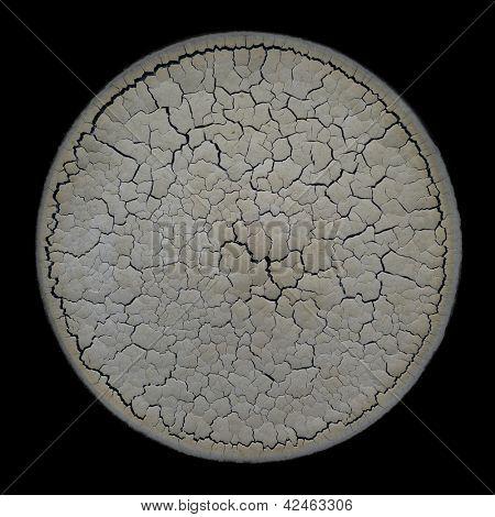 Craquelure texture round shape