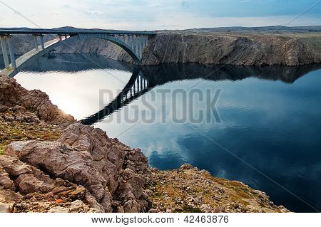 Bridge To The Pag Island, Croatia