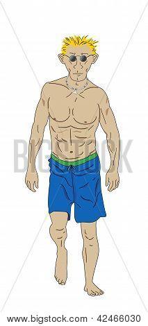 Man in Bathing suit